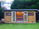 5.5m x 3.5m Garden Room used as a Wood Workshop