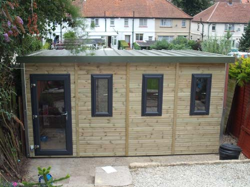 Pro workshop pent garden room heavy duty garden workshops for Garden room definition