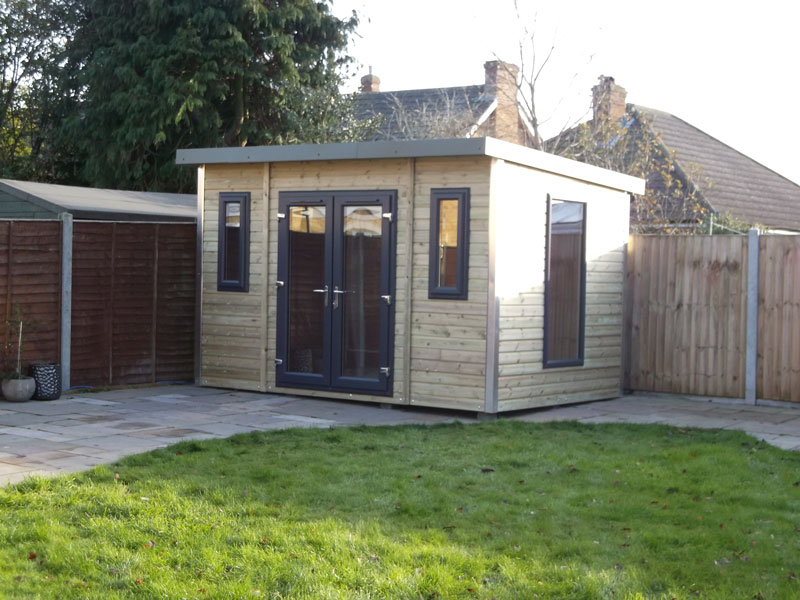 Pro Workshop Pent Garden Room Heavy Duty Workshops