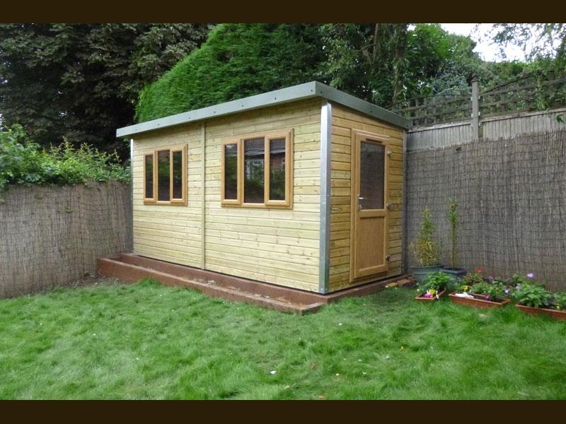 Pro Workshop Pent Garden Room Heavy Duty Workshops