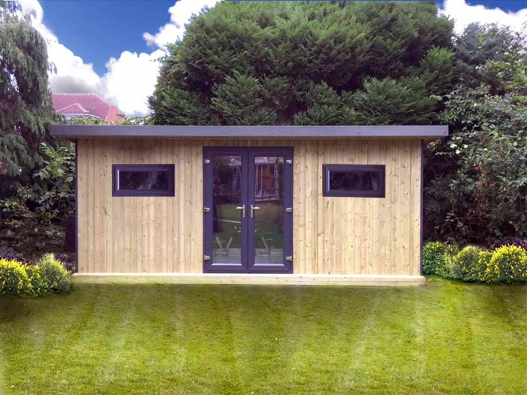 Pro workshop pent garden room heavy duty garden workshops for Garden shed workshop designs